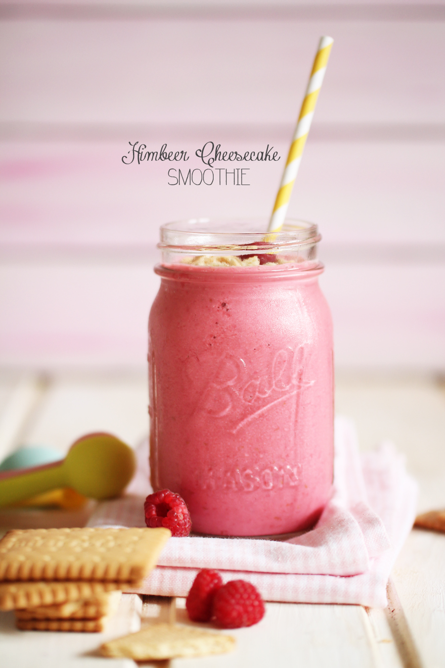 Himbeer Cheesecake Smoothie