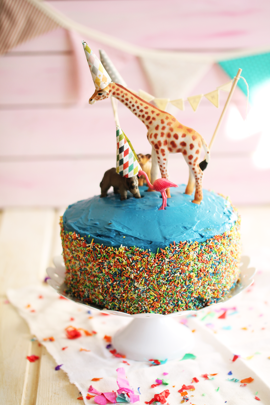 Polka-Dot-Cake selber backen