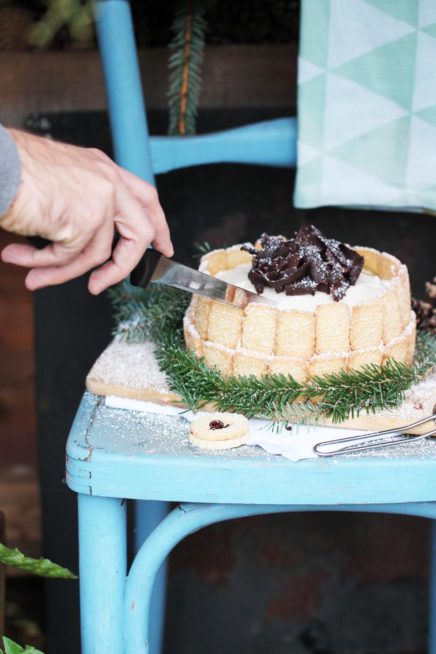 Winterliche Schwarzwälder kirsch Torte