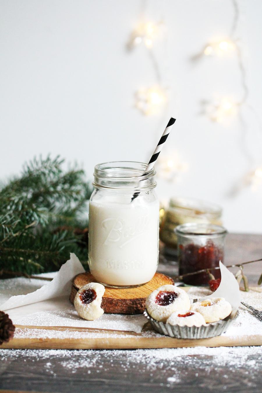Weihnachtskekse Engelsaugen