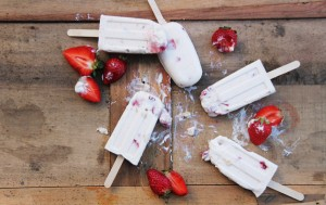 Erdbeer Popsicle