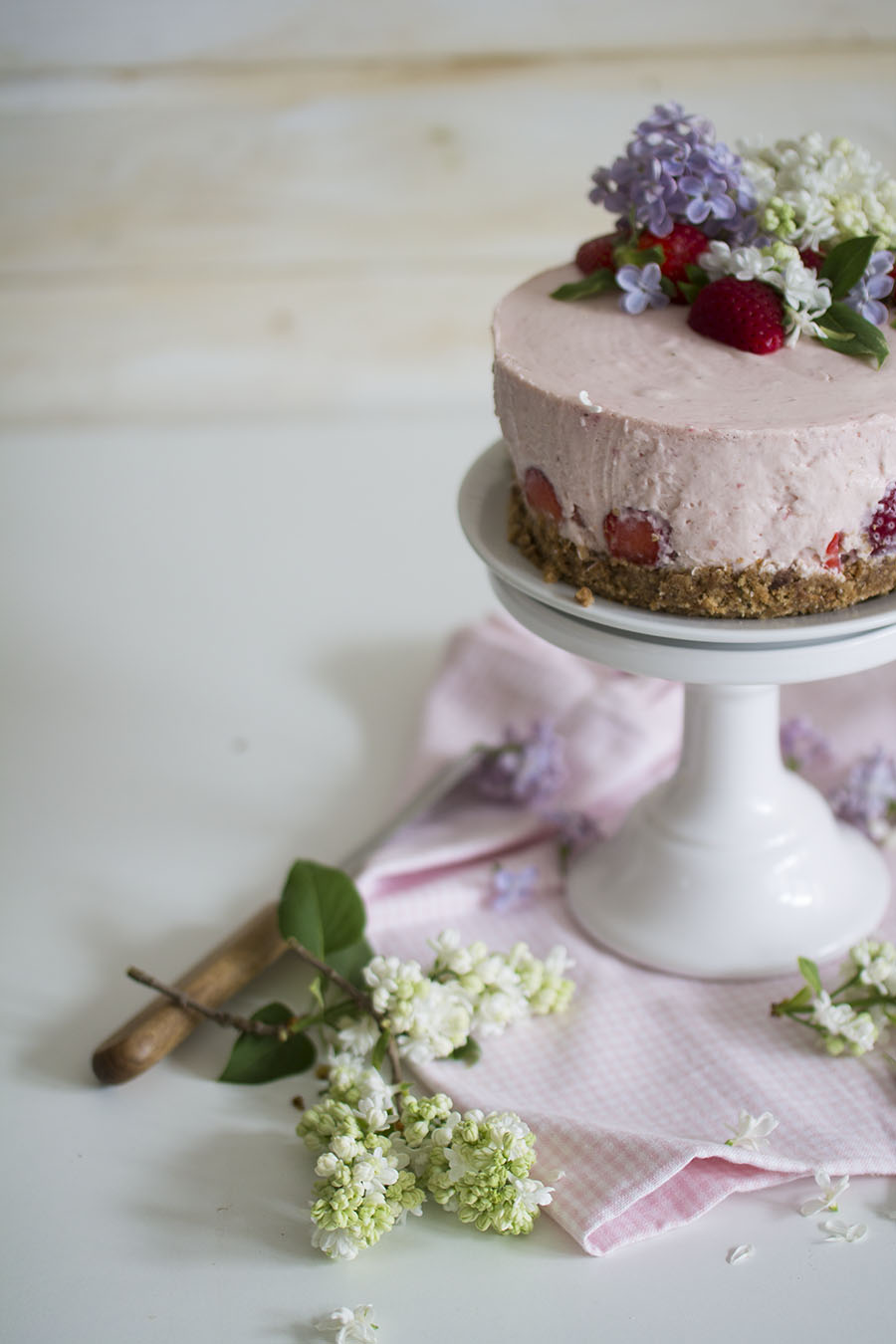 no bake erdbeer torte