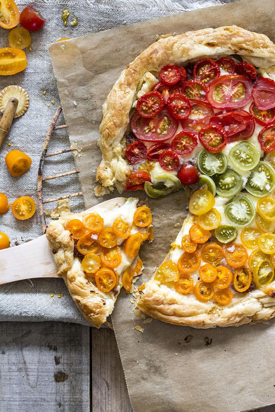 pizza mit Blätterteig