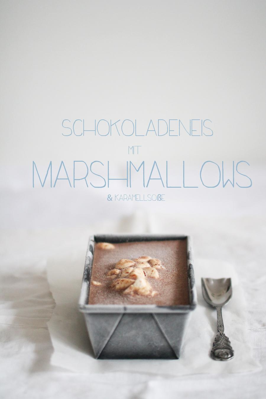 Schokoladeneis mit Marshmallows