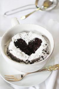 Herz Tassen Kuchen chai Latte