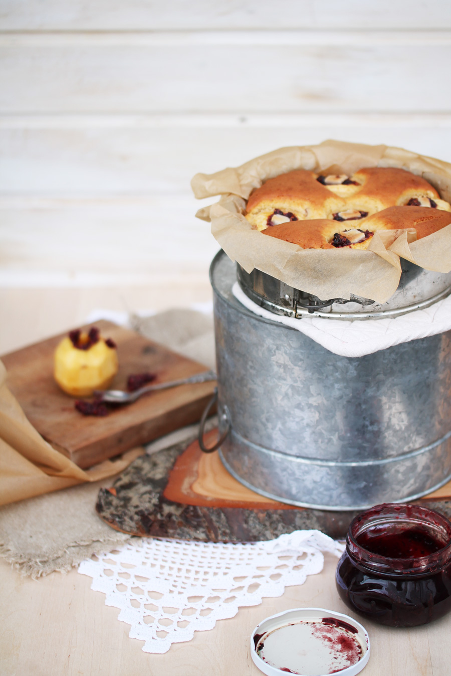 Versunkener-Apfel-Kuchen